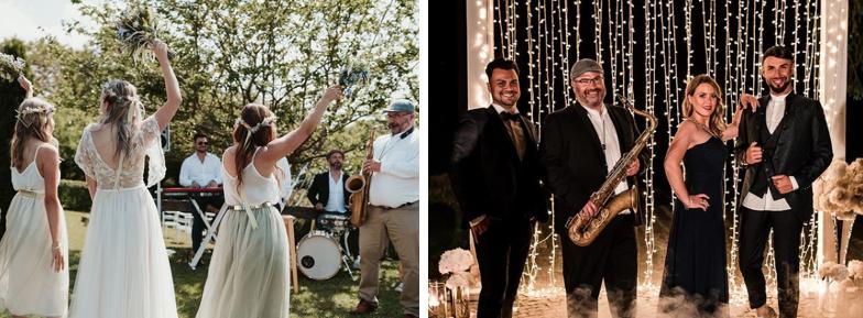 Ausgelassene Stimmung bei der Hochzeit dank der Listen2 Band