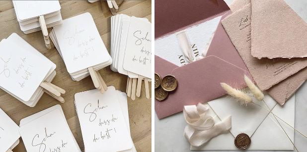 Save the date Karten, sind eine sehr schöne Art den Gästen mitzuteilen wann der Hochzeitstag stattfindet.