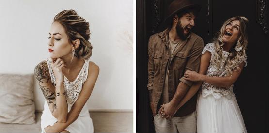 Locker und lässig in wunderschönen Brautkleidern