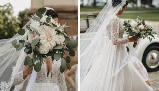 Wie verschieden Brautsträuße doch sein können. Ganz gleich ob schlicht, bunt, größer oder kleiner, jeder Strauß erzählt seine eigene Geschichte.