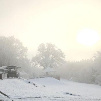 Weihnachtsfeier in winterlichem Ambiente
