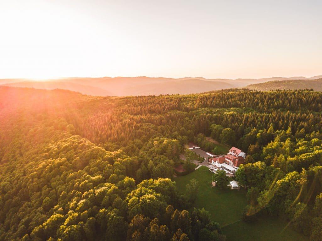 Sonnenuntergang auf dem Hohen Darsberg - romantische Hochzeitslocation